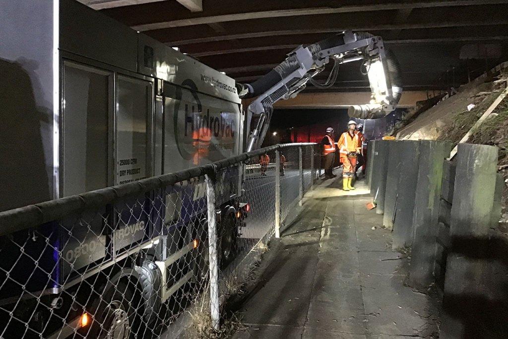 Air vac job for Auckland Motorways