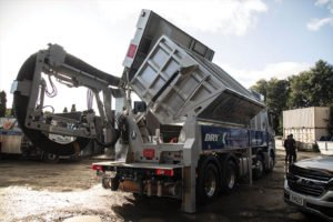 HydroVac's innovative new Air Excavation Unit in action