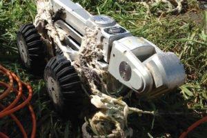 CCTV Mobile Camera Unit covered in rubbish