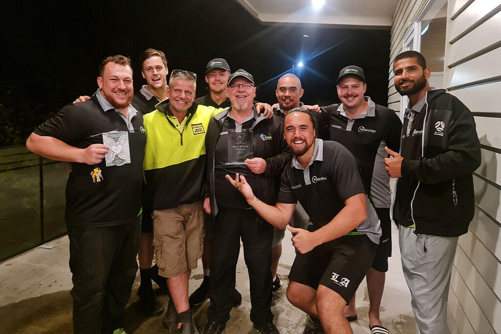 HydroVac cricket team division winners