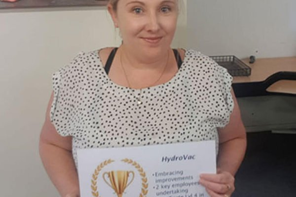 Alana with award