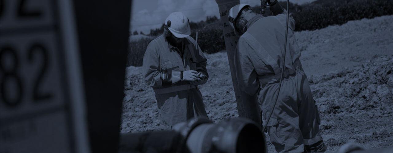 HydroVac team working on excavation