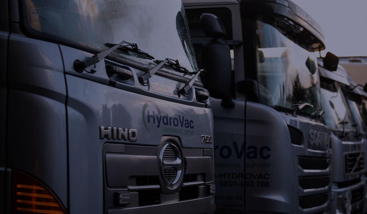 HydroVac Trucks lined up