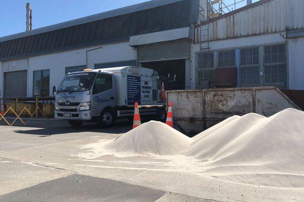 HydroVac Christchurch sand cleanup