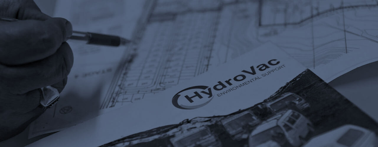 HydroVac documents on a table
