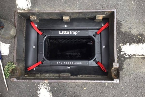 Installed Litta trap enviropod