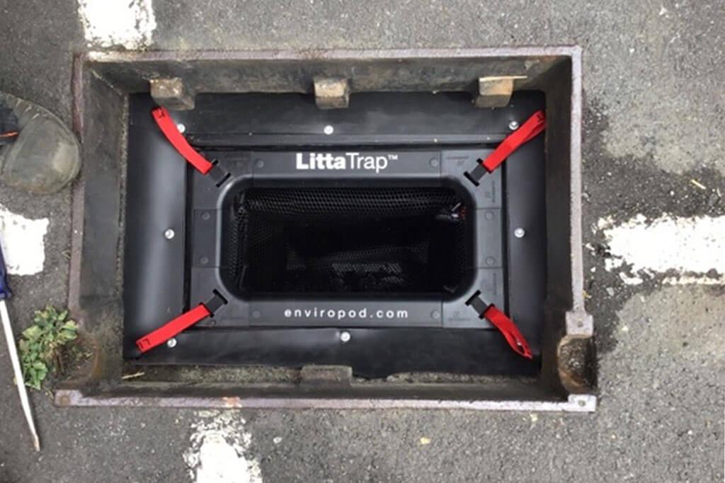Installed Litta trap enviropod